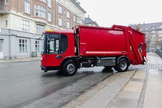 This is a picture of a garbage truck.