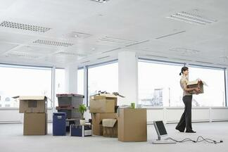 This is a picture of an office removals in Gloucester.
